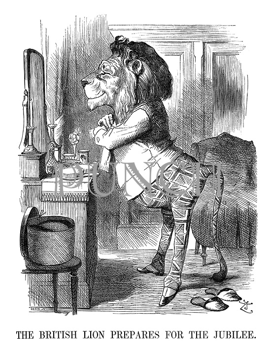 The British Lion Prepares for the Jubilee.