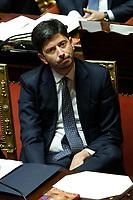 Roberto Speranza<br /> Rome September 10th 2019. Senate. Discussion and Trust vote at the new Government. <br /> Foto  Samantha Zucchi Insidefoto