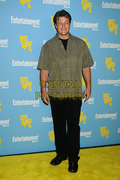 Nathan Fillion.Entertainment Weekly's Comic-Con 2012 Celebration held at the Hard Rock Hotel Float Lounge, San Diego, California, USA..July 14th, 2012.full length green khaki shirt black trousers .CAP/ADM/BP.©Byron Purvis/AdMedia/Capital Pictures.