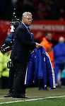 Guus Hiddink manager of Chelsea takes off his coat  - English Premier League - Manchester Utd vs Chelsea - Old Trafford Stadium - Manchester - England - 28th December 2015 - Picture Simon Bellis/Sportimage