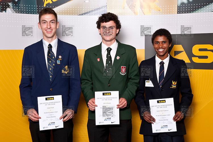 Boys Distance Running finalists Daniel Smith, John Schrueder & Tadele Tekle-Haimanot. ASB College Sport Auckland Secondary School Young Sports Person of the Year Awards held at Eden Park on Thursday 12th of September 2009.