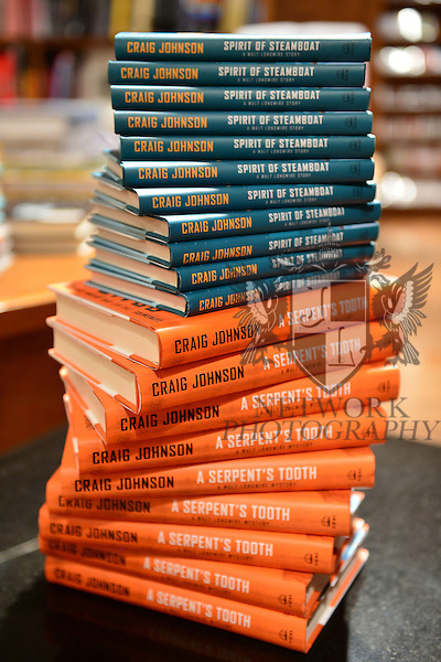 CORAL GABLES, FL - OCTOBER 21: General view of book on display during Author Craig Johnson book signing of 'Spirit of Steamboat: A Walt Longmire Story' at Books and Books on October 21, 2013 in Coral Gables, Florida. (Photo by Johnny Louis/jlnphotography.com)