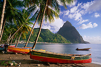 Soufrier Bay and Petit Piton<br />