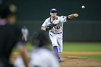 Winston-Salem Dash relief pitcher Louie Lechich (21) delivers a pitch to the plate against the Myrtle Beach Pelicans at BB&T Ballpark on May 11, 2017 in Winston-Salem, North Carolina.  The Pelicans defeated the Dash 9-7.  (Brian Westerholt/Four Seam Images)