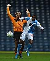 Blackburn Rovers' Amari'i Bell in action<br /> <br /> Photographer Dave Howarth/CameraSport<br /> <br /> The EFL Sky Bet Championship - Blackburn Rovers v Hull City - Tuesday 11th February 2020 - Ewood Park - Blackburn<br /> <br /> World Copyright © 2020 CameraSport. All rights reserved. 43 Linden Ave. Countesthorpe. Leicester. England. LE8 5PG - Tel: +44 (0) 116 277 4147 - admin@camerasport.com - www.camerasport.com