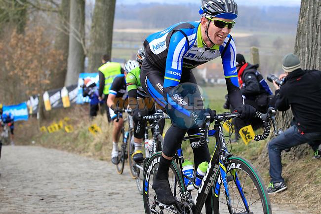 Riders including Zakkari Dempster (Team Netapp-Endura) climb Koppenberg during the 2013 Tour of Flanders, Belgium, Sunday 31st  March 2013 (Photo by Eoin Clarke 2013)