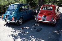 Regione Molise: due Fiat 500 con le targhe delle due province della regione Molise