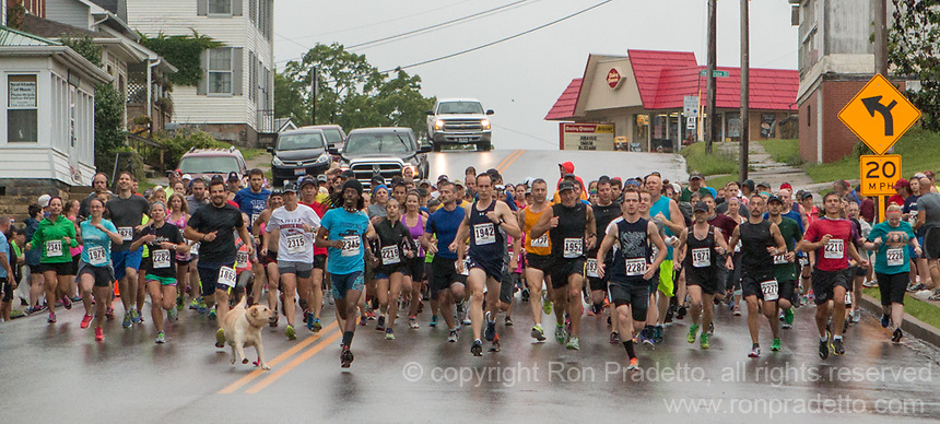The 2015 Barnesville Rails to Trails 5K walk/run, Barnesville, Ohio June 27, 2015.