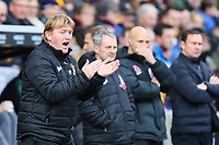 Bradford City manager Stuart McCall during the Sky Bet League 1 match between Bradford City and Plymouth Argyle at the Northern Commercial Stadium, Bradford, England on 11 November 2017. Photo by Thomas Gadd.