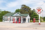 Historic Texaco Service Station-ast one to pump gass on the original Route 66 in central Illinois
