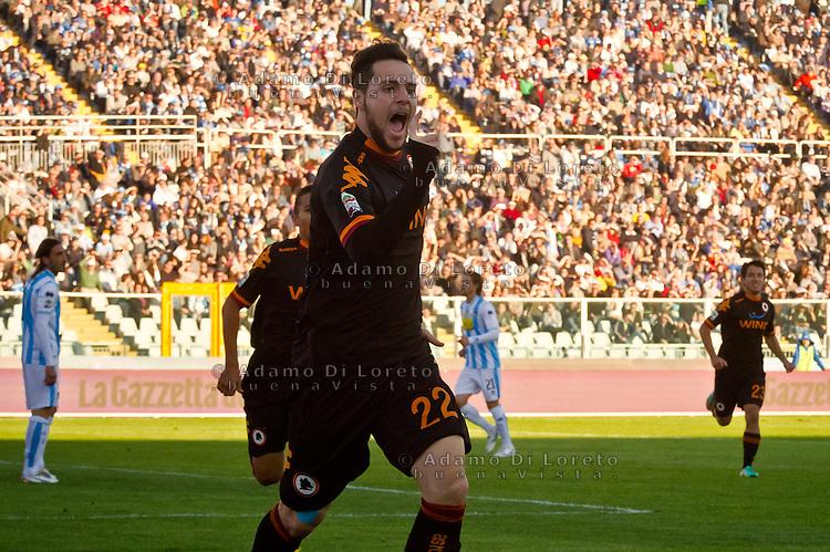 PESCARA (PE) 25/11/2012: SERIE A PESCARA - ROMA. NELLA FOTO IL GOAL DI MATTIA DESTRO ROMA. FOTO DILORETO ADAMO