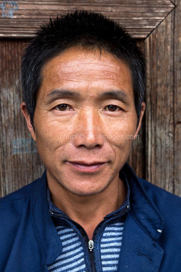 Huanggang, Guizhou, China.  Young Man of the Dong Ethnic Minority.