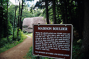 Madison Boulder in Madison, New Hampshire USA.