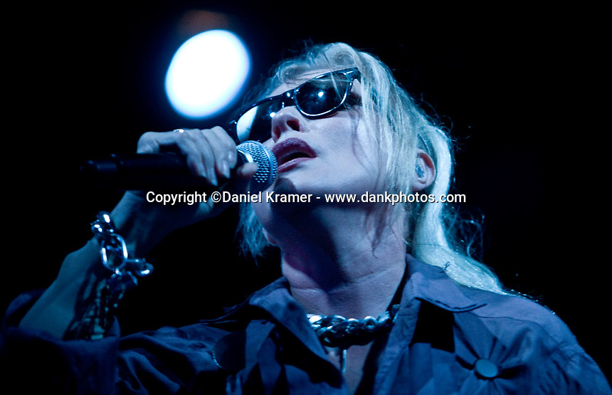 Debbie Harry performs with Blondie at the Arena Theater in Houston, Texas on Sunday, August 23, 2009.