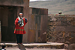 &copy;PATRICIO CROOKER<br /> La Paz, Bolivia<br /> A picture dated January 21, 2006 shows Bolivian President Evo Morales the day before his official inaguration in the ancient ruins of Tiwanacu in the Bolivian Altiplano.