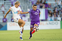 Orlando, FL - Saturday July 15, 2017: Brittany Ratcliffe, Marta Vieira Da Silva during a regular season National Women's Soccer League (NWSL) match between the Orlando Pride and FC Kansas City at Orlando City Stadium.