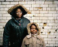 "48 year old Augustine from DR Congo walks the streets of North London with her son Jeneil. She worked as a nurse in a hospital in DR Congo but fled after she was arrested for her involvement in an opposition political party. she has her six year old son Jeneil with her and both are destitute, sleeping in churches, on friends' floors and sometimes outside. Her son has a school place but because she is always sleeping in different places and has no money for bus fares it is sometimes hard to make sure he attends. ""My son and I only eat once a day. My church gives me two to five GBP a week and I use that money to buy fruit for my son."" Augustine is one of an estimated 300,000 rejected asylum seekers living in the UK."