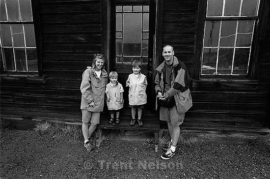 Laura Nelson, Nathaniel Nelson, Noah Nelson, Trent Nelson at Bodie State Historic Park, ghost town<br />