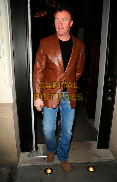 PAUL YOUNG.The London Restaurant Week launch party, The Hospital bar & club, London, England..March 31st, 2008.full length jeans denim brown leather jacket .CAP/CAN.©Can Nguyen/Capital Pictures.