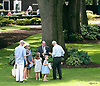 paddock scenes with kids playing in the foreground before The Robert G. Dick Memorial Stakes (gr 3) at Delaware Park on 7/8/17
