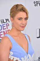 Greta Gerwig at the 2018 Film Independent Spirit Awards on the beach in Santa Monica, USA 03 March 2018<br /> Picture: Paul Smith/Featureflash/SilverHub 0208 004 5359 sales@silverhubmedia.com