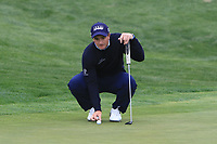 Paul Dunne (IRL) on the 4th green during Round 1 of the Open de Espana 2018 at Centro Nacional de Golf on Thursday 12th April 2018.<br /> Picture:  Thos Caffrey / www.golffile.ie<br /> <br /> All photo usage must carry mandatory copyright credit (&copy; Golffile | Thos Caffrey)