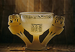 Lotus shaped alabaster drinking cup, Tutankhamun and the Golden Age of the Pharaohs, Page 249