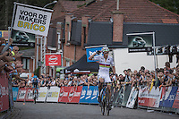 first race &amp; first victory in the 2016/2017 season for World Champion Wout Van Aert (BEL/Crelan-Vastgoedservice)<br /> <br /> Brico-cross Geraardsbergen 2016<br /> U23 + Elite Mens race