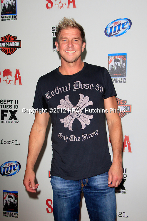 """LOS ANGELES - SEP 8:  Kenny Johnson arrives at the """"Sons of Anarchy"""" Season 5 Premiere Screening at Village Theater on September 8, 2012 in Westwood, CA"""