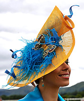 KILLARNEY RACES THURSDAY 17-7-08: Taking part in the Dawn Dairies Queen of Fashion at Killarney Races on Thursday was Martina O'Neill from Kilgarvan<br /> Picture by Don MacMonagle