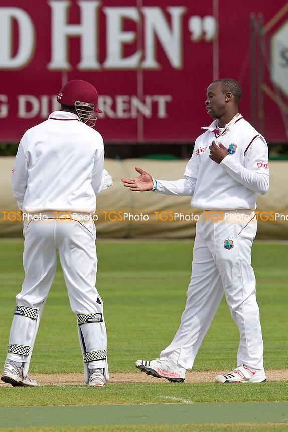Kemar Roach, West Indies reasonably nonchalant after dismissing Matt Coles - West Indies vs England Lions - International Cricket Match at The County Ground, Northamptonshire CCC - 11/05/12 - MANDATORY CREDIT: Ray Lawrence/TGSPHOTO - Self billing applies where appropriate - 0845 094 6026 - contact@tgsphoto.co.uk - NO UNPAID USE.
