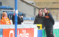 Blackpool manager Gary Bowyer poses for a photo with a fan<br /> <br /> Photographer Kevin Barnes/CameraSport<br /> <br /> The EFL Sky Bet League Two - Wycombe Wanderers v Blackpool - Saturday 11th March 2017 - Adams Park - Wycombe<br /> <br /> World Copyright &copy; 2017 CameraSport. All rights reserved. 43 Linden Ave. Countesthorpe. Leicester. England. LE8 5PG - Tel: +44 (0) 116 277 4147 - admin@camerasport.com - www.camerasport.com