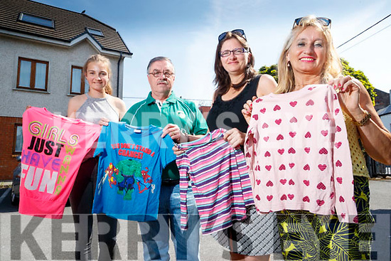 Organisers of the Chernobyl children summer visit are looking for donations of childrens clothes, from Left: Eilish Harteveld, Tom Prendeville, Raelleen Bell and Bridie Courtney.