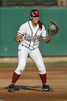 25 October 2007: Stanford Cardinal Erikka Moreno during Stanford's 5-4 loss in seven innings against the San Jose State Spartans at Boyd & Jill Smith Family Stadium in Stanford, CA.