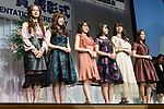 Members of the idol group ''Morning Musume 18'' attend the 31st Japan Best Dressed Eyes Awards at Tokyo Big Sight on October 22, 2018, Tokyo, Japan. The event featured Japanese celebrities who were recognized for their fashionable eyewear during the International Optical Fair Tokyo (IOFT) 2018. (Photo by Rodrigo Reyes Marin/AFLO)