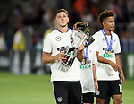 Germany's Niklas Stark celebrates with the trophy during the UEFA Under 21 Final at the Stadion Cracovia in Krakow. Picture date 30th June 2017. Picture credit should read: David Klein/Sportimage