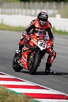 9th July 2020; Circuit de Barcelona Catalunya, Barcelona, Spain; FIM Superbike World Championship Test, Day Two; Scott Redding of the Aruba.it Racing Team rides the Ducati Panigale V4 R
