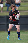 Onewhero firstfive eight Nathan Langsford. Counties Manukau Premier Club rugby game between Te Kauwhata and Onewhero, played at Te Kauwhata on Saturday April 16th 2016. Onewhero won the game 37 - 0 after leading 13 - 0 at Halftime. Photo by Richard Spranger.