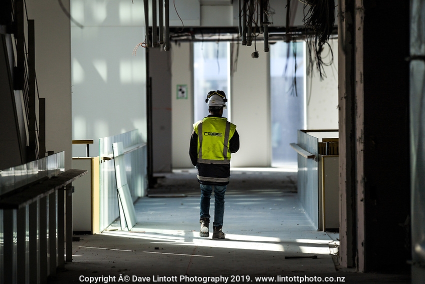 60 Waterloo Quay demolition site in Wellington, New Zealand on Monday, 29 July 2019. Photo: Dave Lintott / lintottphoto.co.nz