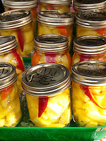 Pickled mango sold at the Kapiolani Community College Farmers Market.