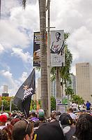 Miami Heat NBA 2013 Championship parade, Biscayne Boulevard, American Airlines Arena, Miami, FL, June 24, 2013
