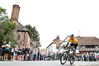 Picture by Alex Whitehead/SWpix.com - 21/09/2013 - Cycling - Tour of Britain, Stage 7 - Epsom to Guildford - Team Sky's Sir Bradley Wiggins rides through the small village of Shere near Guildford.