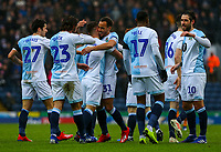 Blackburn Rovers' Adam Armstrong celebrates scoring the opening goal with teammates<br /> <br /> Photographer Alex Dodd/CameraSport<br /> <br /> The EFL Sky Bet Championship - Blackburn Rovers v Hull City - Saturday 26th January 2019 - Ewood Park - Blackburn<br /> <br /> World Copyright © 2019 CameraSport. All rights reserved. 43 Linden Ave. Countesthorpe. Leicester. England. LE8 5PG - Tel: +44 (0) 116 277 4147 - admin@camerasport.com - www.camerasport.com
