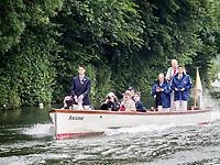 Henley Royal Regatta, Henley on Thames, Oxfordshire, 28 June - 2 July 2017.  Wednesday  09:17:36   28/06/2017  [Mandatory Credit/Intersport Images]<br /> <br /> Rowing, Henley Reach, Henley Royal Regatta.<br /> <br /> R C Phelps, Esq. Umpire on Launch ARIADNE