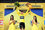 Race leader Chris Froome (GBR) Team Sky retains the Yellow Jersey at the end of Stage 10 of the 104th edition of the Tour de France 2017, running 178km from Perigueux to Bergerac, France. 11th July 2017.<br /> Picture: ASO/Alex Broadway | Cyclefile<br /> <br /> <br /> All photos usage must carry mandatory copyright credit (&copy; Cyclefile | ASO/Alex Broadway)