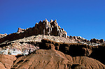 UT: Utah; Capitol Reef National Park, Geology formations    .Photo Copyright: Lee Foster, lee@fostertravel.com, www.fostertravel.com, (510) 549-2202.Image: utcapi207