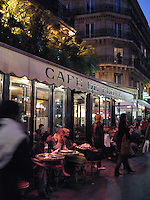 Evening at the cafe, Paris
