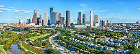 Aerial Houston Skyline Panorama 2 - Color Canvas Prints -<br />