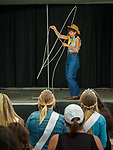 Karen Quest cowgirl tricks spins her rope during Sunday at the 80th Amador County Fair, Plymouth, Calif.<br /> .<br /> .<br /> .<br /> .<br /> #AmadorCountyFair, #1SmallCountyFair, #PlymouthCalifornia, #TourAmador, #VisitAmador