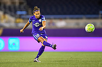 Orlando, FL - Saturday September 10, 2016: Kristen Edmonds during a regular season National Women's Soccer League (NWSL) match between the Orlando Pride and Sky Blue FC at Camping World Stadium.